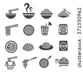 noodle icon | Shutterstock .eps vector #571550962