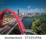 Aerial View Of Moscow With...