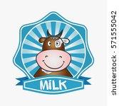 milk logo. template design... | Shutterstock .eps vector #571555042