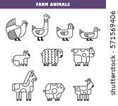 farm animals for info graphics... | Shutterstock .eps vector #571569406
