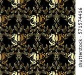 floral seamless pattern.... | Shutterstock .eps vector #571574416