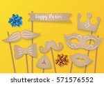 purim holiday concept with... | Shutterstock .eps vector #571576552