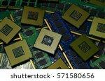 computer processor and memory... | Shutterstock . vector #571580656
