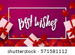 color vector gift box  bows and ... | Shutterstock .eps vector #571581112