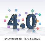 industry 4.0 concept business... | Shutterstock .eps vector #571582528