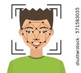 biometrical identification.... | Shutterstock .eps vector #571583035