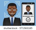biometrical identification.... | Shutterstock .eps vector #571583185