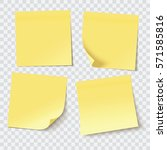 yellow sticky notes  vector... | Shutterstock .eps vector #571585816