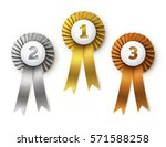 first second and third place... | Shutterstock .eps vector #571588258