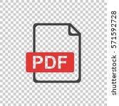 pdf icon on isolated background