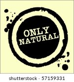 only natural grungy ink rubber...   Shutterstock .eps vector #57159331