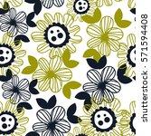 vector seamless pattern floral...   Shutterstock .eps vector #571594408