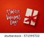 valentine s  card design with... | Shutterstock .eps vector #571595722