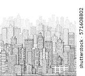 city skyline panorama  hand... | Shutterstock . vector #571608802