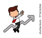 businessman funny with arrow... | Shutterstock .eps vector #571616266