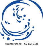 vector of water wave | Shutterstock .eps vector #57161968