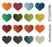 heart vector designs | Shutterstock .eps vector #571624588