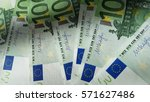 one hundred euro note... | Shutterstock . vector #571627486