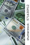 world currency background. euro ... | Shutterstock . vector #571630912