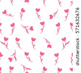 seamless easter pattern.... | Shutterstock .eps vector #571632676