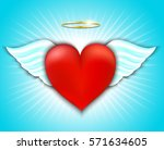 happy valentine's day greeting... | Shutterstock .eps vector #571634605