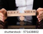 businesswoman hand covering... | Shutterstock . vector #571638802
