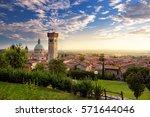 beautiful sunset view of lonato ...   Shutterstock . vector #571644046