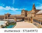 spanish square  plaza de espana ... | Shutterstock . vector #571645972