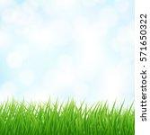 light blue sky and green grass... | Shutterstock .eps vector #571650322