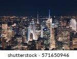 new york city midtown skyline... | Shutterstock . vector #571650946