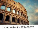 colosseum closeup view  the... | Shutterstock . vector #571653076