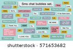 sms mobile phone chat message... | Shutterstock .eps vector #571653682
