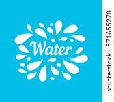 water hand written lettering ... | Shutterstock .eps vector #571655278