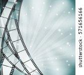 retro blue cinema background... | Shutterstock .eps vector #571656166