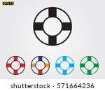 lifebuoy  icon  vector...   Shutterstock .eps vector #571664236