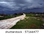 Approaching Storm - stock photo