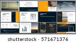 presentation templates. use in... | Shutterstock .eps vector #571671376