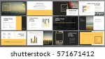 original orange and black... | Shutterstock .eps vector #571671412