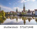 scenic view to skyline of... | Shutterstock . vector #571671448