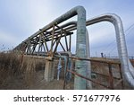 the pipe and valve oil fields  | Shutterstock . vector #571677976