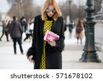 paris march 8  2016. famous... | Shutterstock . vector #571678102