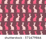 seamless easter pattern.... | Shutterstock .eps vector #571679866