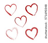 hand drawn vector valentine... | Shutterstock .eps vector #571690348