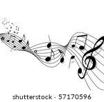 musical background with notes....