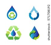 recycling and save water sets...   Shutterstock .eps vector #571708192