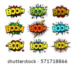 comic book boom sound speech... | Shutterstock .eps vector #571718866