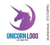 unicorn head logo icon symbol   Shutterstock .eps vector #571718992