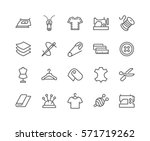 simple set of sewing related... | Shutterstock .eps vector #571719262