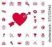 lovestruck or arrow through... | Shutterstock .eps vector #571721962