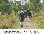 blurry of camping friendship... | Shutterstock . vector #571723072
